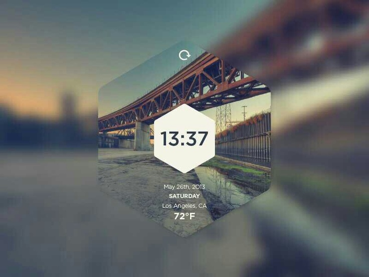 Date clock exagon