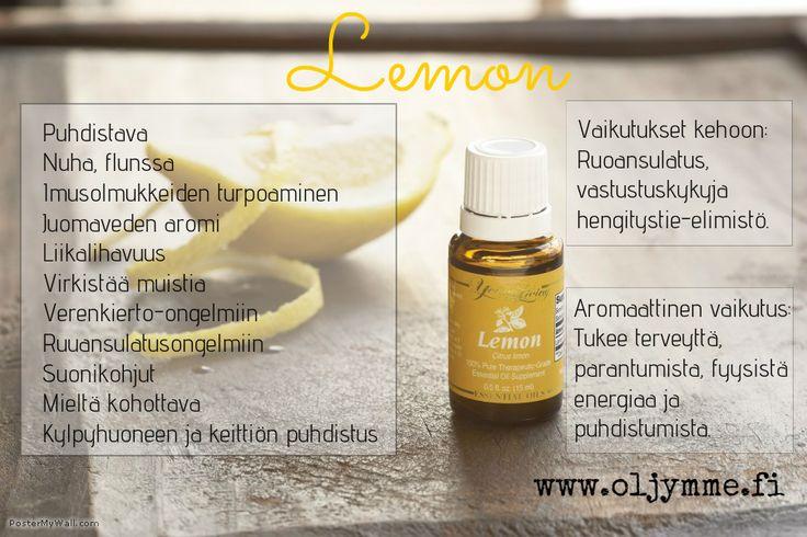 #YoungLiving #lemon #eteeriset öljyt #www.oljymme.fi