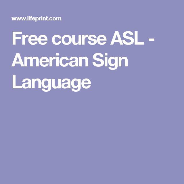 Free course ASL - American Sign Language