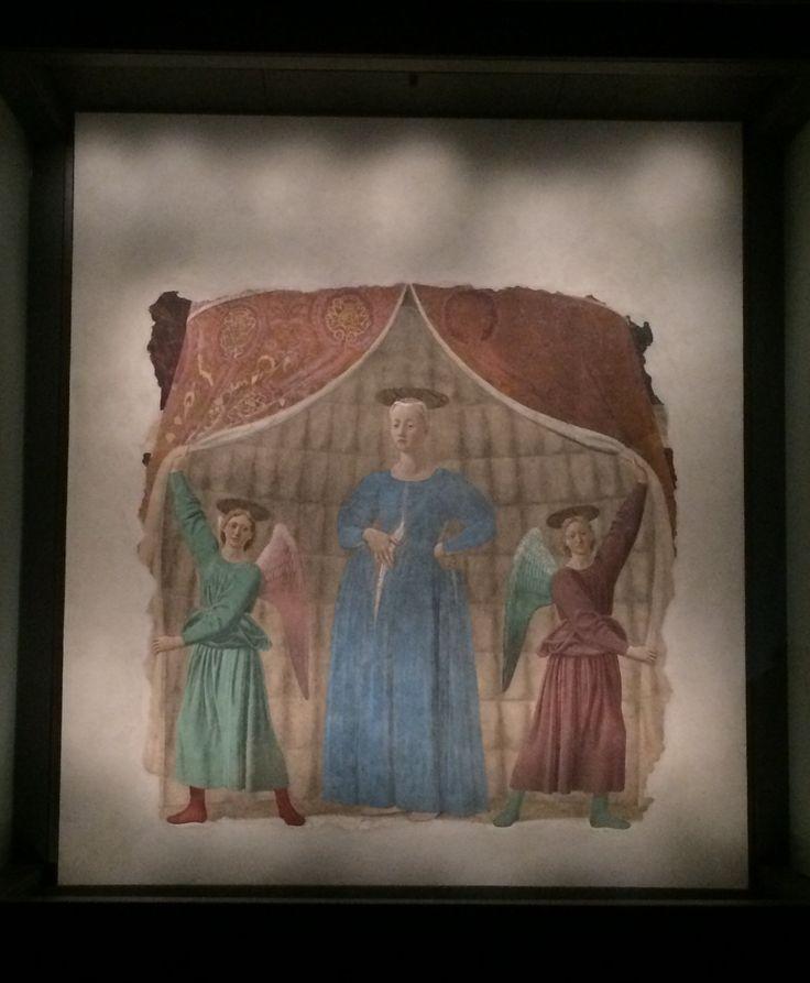 Eine Kunstreise mit Andrea Welz: Madonna del Parto - Ein Meisterwerk der Renaissance von Piero della Francesca. Zu besichtigen heute in der Alten Schule von Monterchi. Foto © Welz