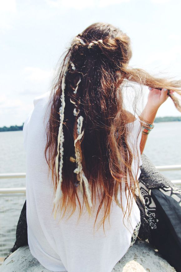 clip in extensions that mimic the look of dreads, super funky without the commitment.