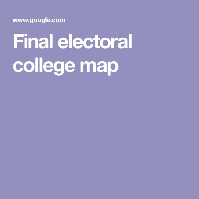 Final electoral college map
