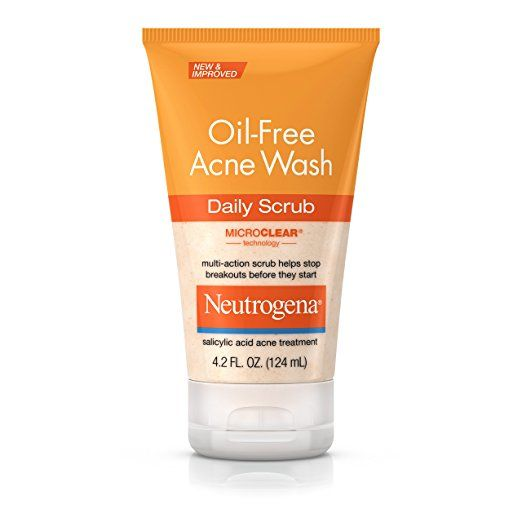 Neutrogena Oil-Free Acne Face Wash Daily Scrub With Salicylic Acid, 4.2 Fl. Oz.