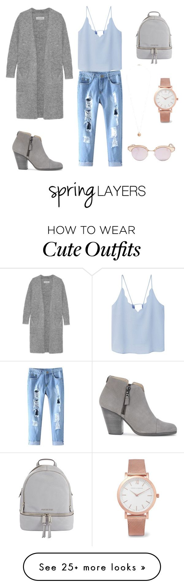 """""""Looks plain but this is what my ideal spring outfit would look like. I think the cardi really puts the whole outfit together along with the accessories:)"""" by jassienguyen on Polyvore featuring MANGO, By Malene Birger, rag & bone, MICHAEL Michael Kors, Larsson & Jennings, Dorothy Perkins, Le Specs, cutecardigan and springlayers"""