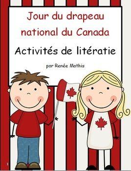 Jour du drapeau du Canada(Canada Flag Day Literacy Activit