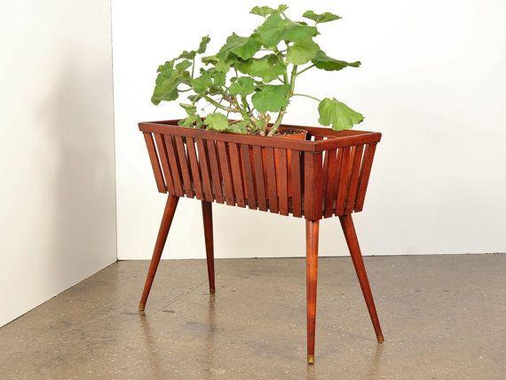 teak plant stand 2