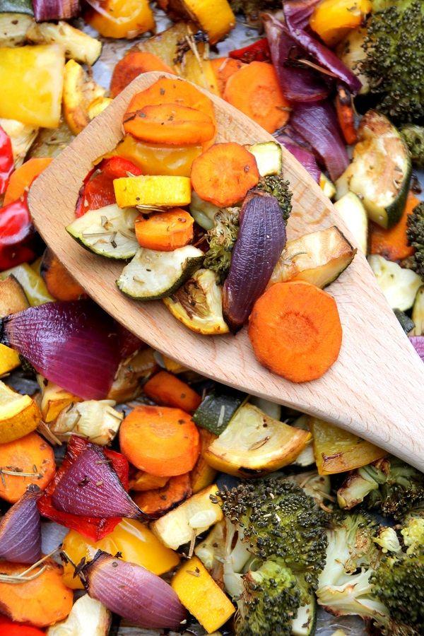Regenboog groenteschotel