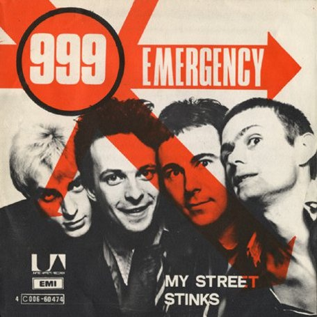 "999 - Emergency [1978, United Artists - 4C 006-60474│Belgium] - 7""/45 vinyl record"