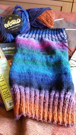 First leg warmer knit ready to cast off & darn.