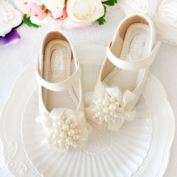 Off White Girls Shoes Toddler Flower Girl Shoes by Flowerlodge