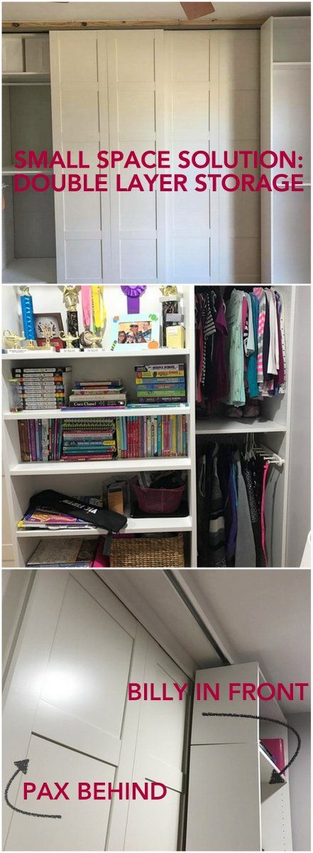 Samatha's solution to her children's wardrobe + storage is simply brilliant. http://www.ikeahackers.net/2017/02/packing-pax-blinding-billy.html
