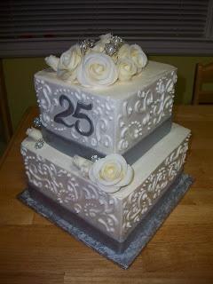 Anniversary cake -Cakes by Monica P