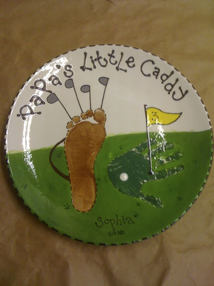Paint your own pottery: Custom Order - Golf themed prints for Father's Day!