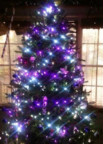 Purple Christmas Tree Lights.Purple Christmas Tree Lights Christmas Ornaments Images