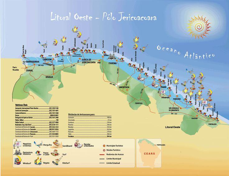 Litoral oeste Ceará - BRASIL = O litoral do Ceará possui algumas das praias mais lindas do Brasil