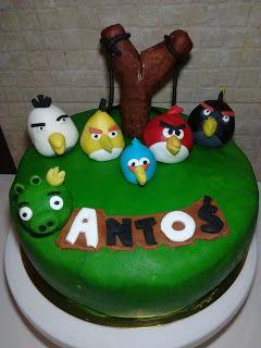 Handmade czyli wytchnienie po mojemu: Cake Angry Birds