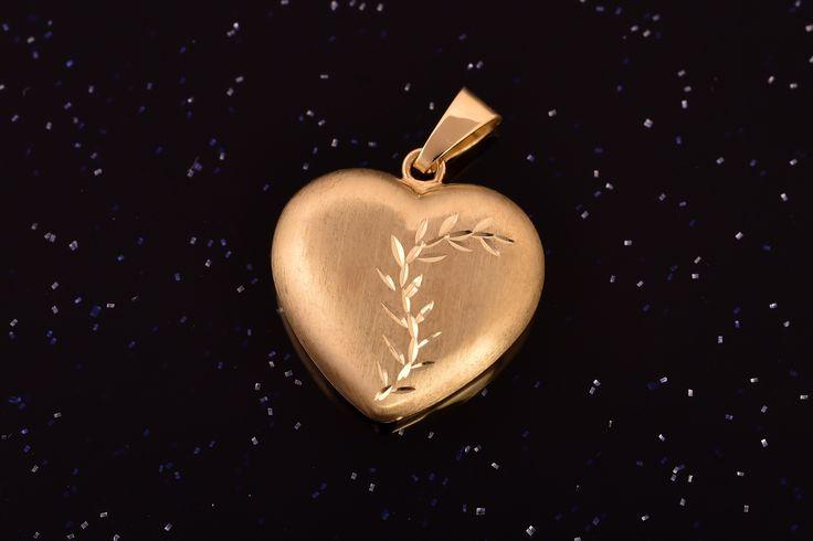 Zlatý přívěsek srdce P074 žluté,1,35g