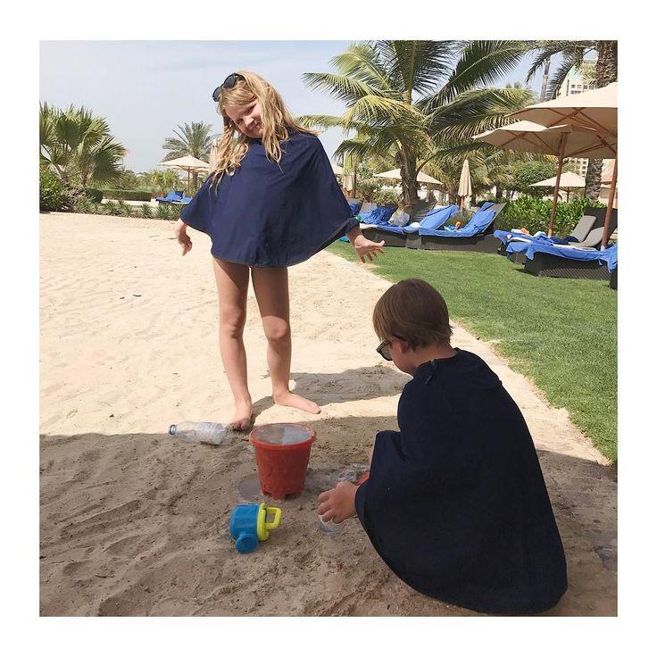Cute kids wearing Kalani Sunwear to protect their skin from the sun. #healtyskin #dubai