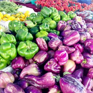 LVE the purple bell peppers at the farmers market!