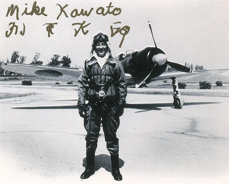 """Masijiro """"Mike"""" Kawato, a WWII Japanese airman, who flew mainly Zeros, as seen behind, with a score of 19 kills. Mike had 17 bullet wounds in his body. He had been downed 5 times and during 5th down he had meant it to be suicide crash into American destroyer. He was steered off course from return fire which ripped one of his wings and cartwheeled him into the ocean rather than hit destroyer.Confirmed/rumored he was pilot who shot down Pappy Boyington."""