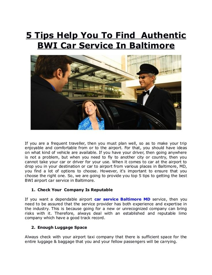 bwi car service in baltimore