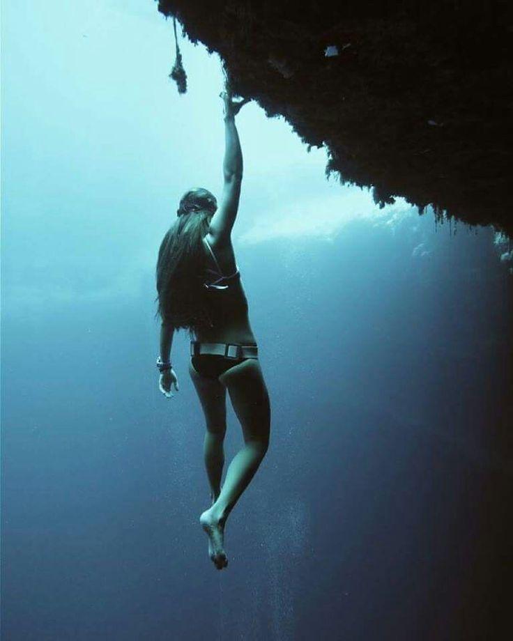 underwater ocean, deep blue, dive, free diving