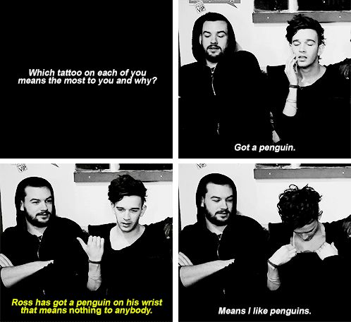ross and matty on their tattoos