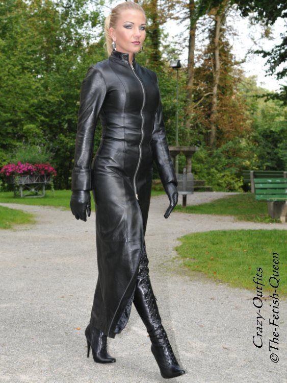 Ledermantel Leder Mantel Schwarz Bodenlang Mantelkleid Maßanfertigung