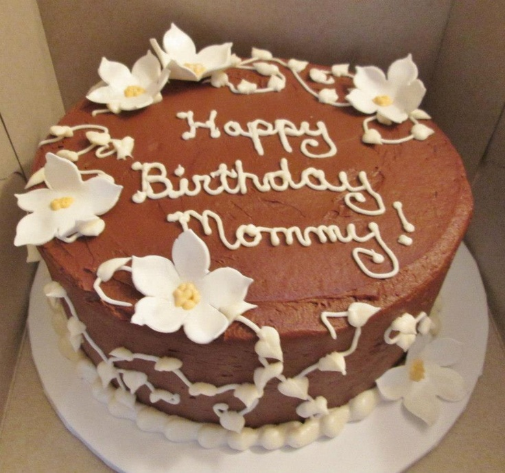 A simple chocolate cake for a mom