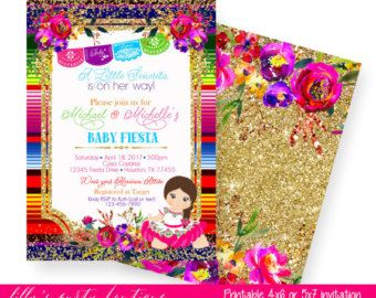 Fiesta Baby Shower Invitation Mexican By LillysPartyBoutique