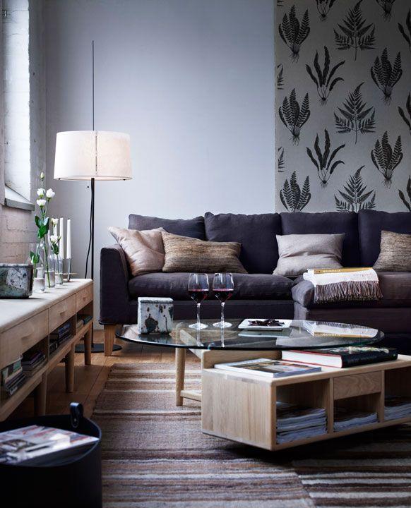 Soffa 100 Soffbord diameter 100cm med förvaring och Låg förvaring