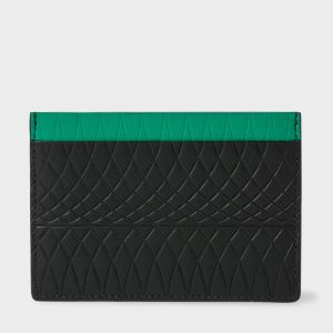 Paul Smith No.9 - Black Leather Card Holder With Multi-Coloured Card Slots