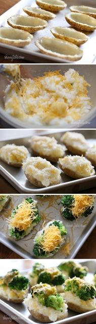 Zapečené brambory ve slupce se sýrem a brokolicí