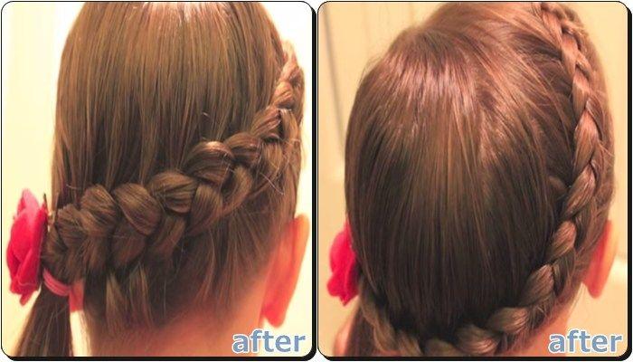 子供 浴衣 髪型 編み込みサイドポニーテール 子供 浴衣 髪型 簡単