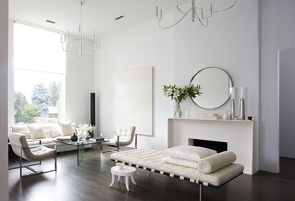 Beautiful minimalist home in white