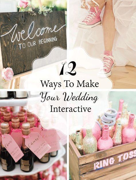 12 Ways To Make Your Wedding Interactive