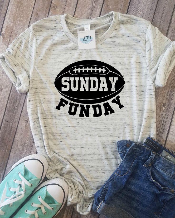 Sunday Funday   Football Shirts for women   Football Mom shirts