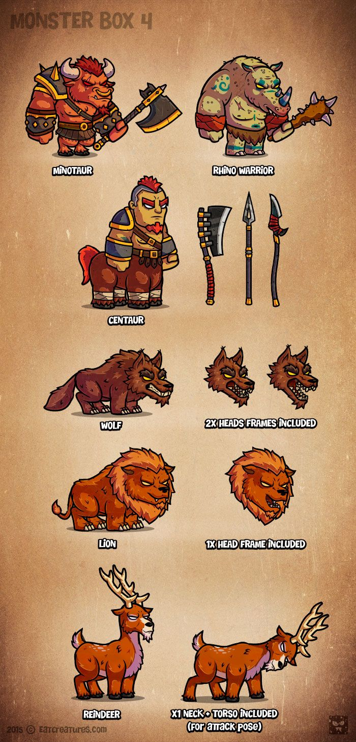 Monster Cartoon RPG Characters 4