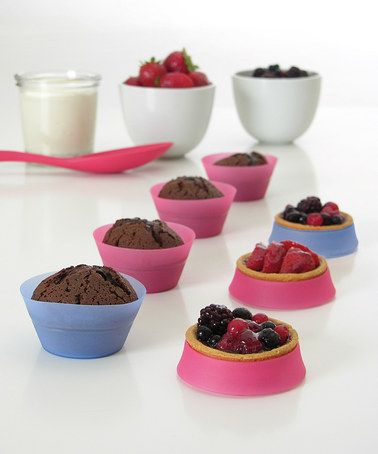 Take a look at this Silicone Cupcake Liner - Set of Six by Mastrad on #zulily today!