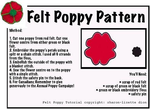 Free Felt Poppy Pattern