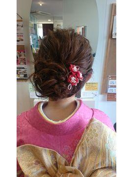 結婚式 和装 髪型 ロココ編み込みルーズ