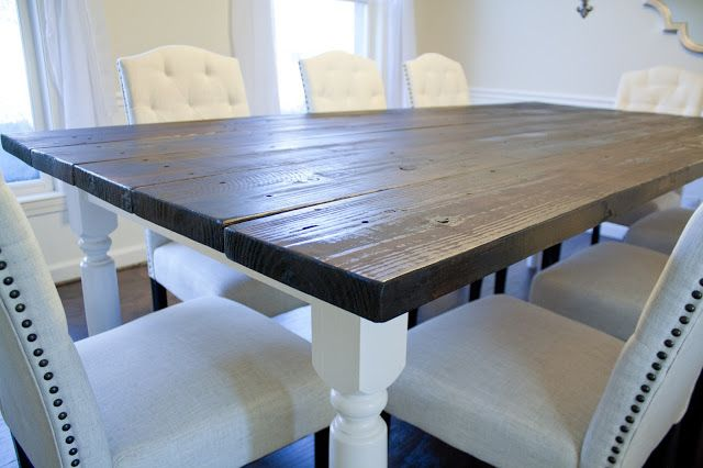 DIY Fixer Upper Style Farmhouse Table Tutorial. The amazing Kelsie is guest blogging on Arts & Classy! Check out her amazing farmhouse table that she made from scratch!