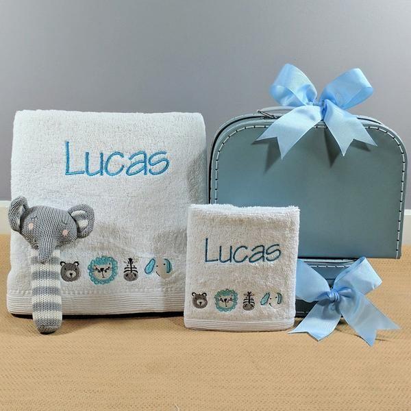 Blue Boys Peter Rabbit Personalised Hooded Towel