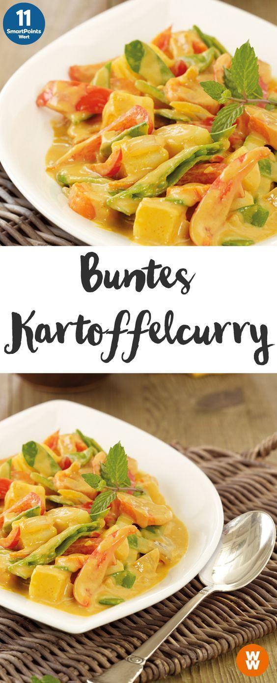 Buntes Kartoffelcurry | 2 Portionen, 11 SmartPoints/Portion, Weight Watchers, Kartoffeln, fertig in 45 min.