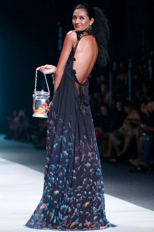 #BILLYTJONG Our 1st Ready To Wear Printed dress on Jakarta Fashion Week13 on Nov 2012 Look 8a