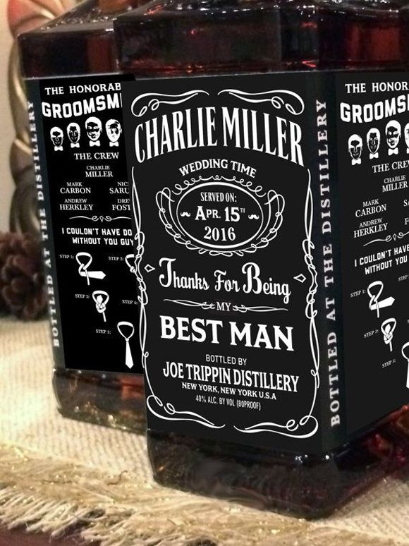 Do Your Groomsmen Love JD Personalised Jack Daniel Labels Best Man Wedding Gifts For
