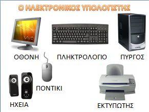 Το παρακάτω εποπτικό υλικό αφορά τον ηλεκτρονικό υπολογιστή στο νηπιαγωγείο. Από το αποτελείτ&alp...