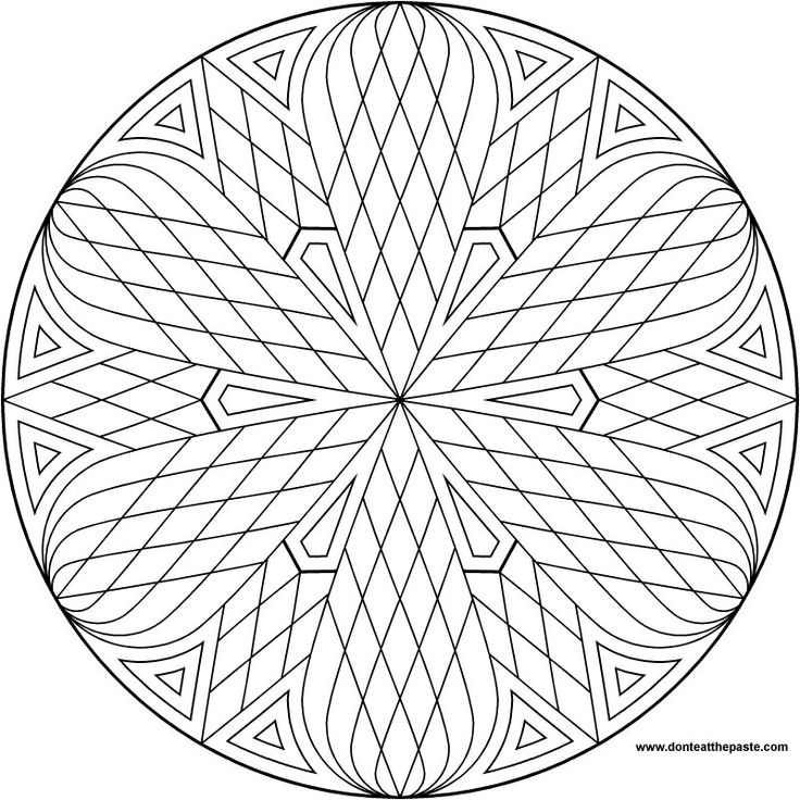 a simple mandala to color also available in transparent png format
