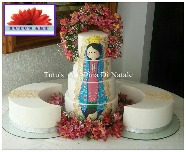 Communion Cake by Tutu's Art!  Virgen de Guadalupe