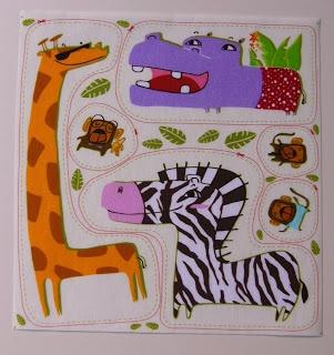 Selva-girafa. Iron-on. Cuselgat.com